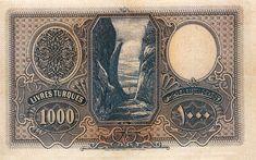 1000 Lira - kağıt para (1927) Turkish Lira, Old Coins, Postage Stamps, Istanbul, Vintage World Maps, Nostalgia, History, Paper, Collection