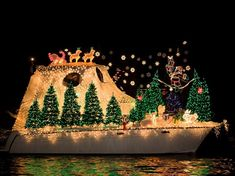 Christmas boat parade - Newport Beach has long dazzled holiday season crowds with its lighted boat parade, . Christmas Float Ideas, Unusual Christmas Trees, Best Christmas Lights, Christmas Light Displays, Holiday Lights, All Things Christmas, Christmas Decorations, Christmas Planters, Christmas Pictures