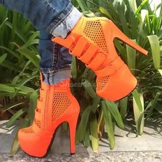 Glamorous Mesh Platform Ankle Forget A Boot It From The Plus Size Fashion Community At www.VintageAndCurvy.com