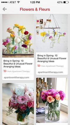 I've started a board just for flowers - follow along to Flowers  Fleurs @L a Vie Ann Rose Unusual Flowers, Mid Century Modern Furniture, Container Gardening, Furniture Decor, Flower Arrangements, Projects To Try, Sweet Home, Table Decorations, Lisa Phillips
