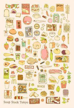 Japan food illustration