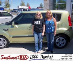 #HappyAnniversary to Terri Glover on your 2013 #Kia #Soul from Samuel Griffith at Southwest KIA Rockwall!