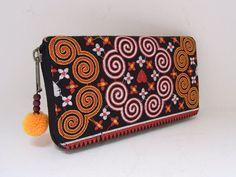vintage thai fabric wallet
