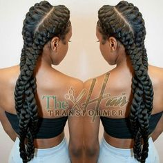 Dope Braids via @the_hairtransformer - Black Hair Information Community