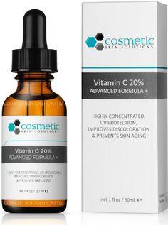 #1 BEST Vitamin C 20% Serum + Ferulic Acid & Hyaluronic Acid For Maximum Anti-Aging! 100% Safe & Effective! Highly…