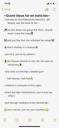 Short poetic quotes for insta bios❤️ Bio Instagram, Bios Para Instagram, Clever Captions For Instagram, Instagram Caption Lyrics, Instagram Captions For Friends, Photo Instagram, Instagram Baddie, Instagram Caption Ideas, Blog Tips