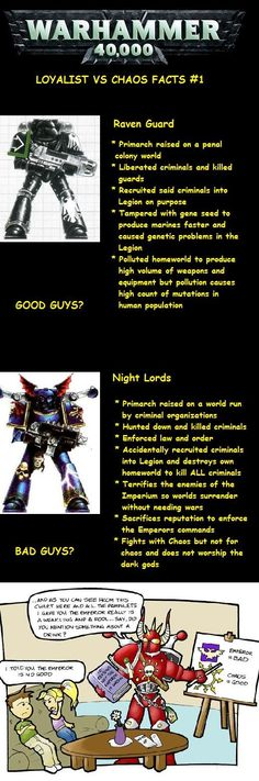 Warhammer Facts #1 Loyalists Vs. Heretics, or why Horus is awesome!