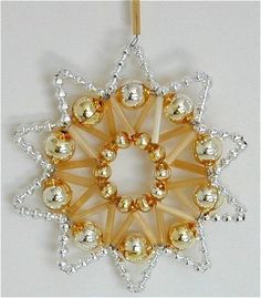 beaded ornament/pendant. Click for lots more ideas.