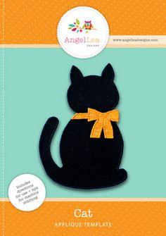 cat applique pattern