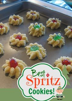 Best Spritz Cookie Recipe - Spritzgeback - Swedish Butter Cookies Rob: made about 80 trees. Yummy Cookies, Holiday Cookies, Butter Cookies Christmas, Baby Cookies, Heart Cookies, Valentine Cookies, Easter Cookies, Birthday Cookies, Sugar Cookies