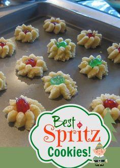 Best Spritz Cookie Recipe - Spritzgeback - Swedish Butter Cookies | whatscookingamerica.net