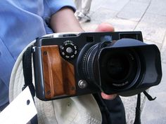 Hasselblad XPan with wood grip! nice!