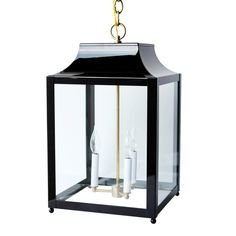 This lovely lantern is handmade and finished by artisans in Los Angeles, CA. The light is UL rated for indoor or
