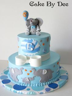 Baby Elephant Baby Shower Cake project on Craftsy.com