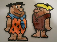 Fred Flintstone, Barney Rubble perler beads by perlerbeadcrafts, via Flickr