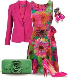 Colorful Pink Flower Street Fashion Style