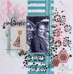 Altered Glitter Strips - Layout