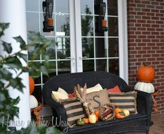 Fall Front Porch at