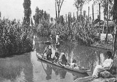 Aztec chinampas of Central America an historic example of floating islands - Native american civilization