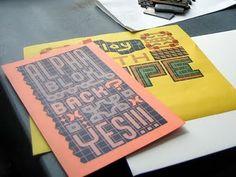 Studio Visit: The Arm -2 - megropress -Letterpress + Illustration -