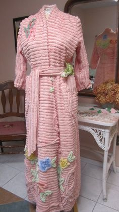 Chenille Glamour Girl Bath Robe / item 32 / Women by bonnilanese, $155.00