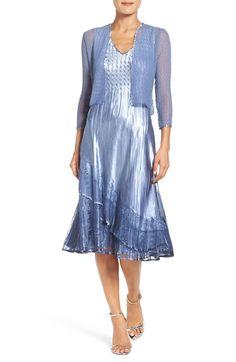 Main Image - Komarov A-Line Dress & Jacket (Regular & Petite)