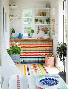 ♥ I don't know when, or where,  but it makes me happy.For a small space perhaps a writing studio ......