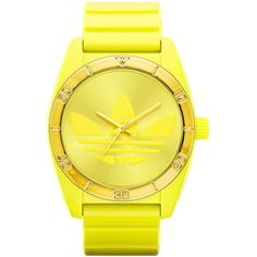 adidas Originals 'Santiago' Neon Watch Neon Yellow/ Gold One Size