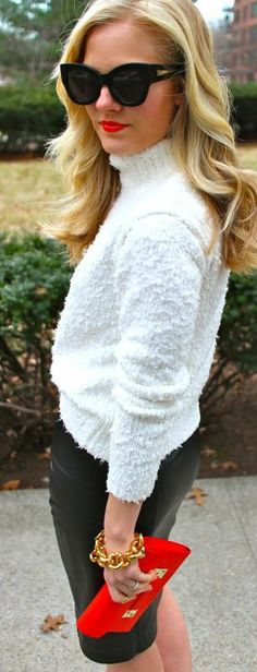 Classic look. I hate this sweater, but the general layout of this outfit is fantastic.