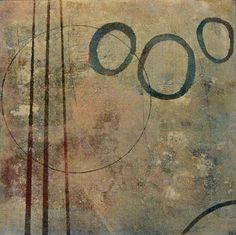 "monotype by Anne Moore called""Pausing in Orbit""."