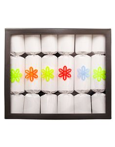 The Conran Shop White Gloss Christmas Crackers Handmade in Dorset, England by Celebration Crackers