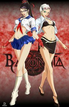 Artwork: Bayonetta & Jeanne