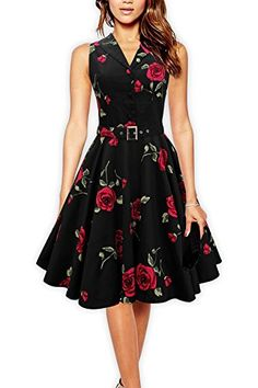 Black Butterfly 'Luna' Retro Infinity 50's Dress (Large Red Roses, US 4) Black Butterfly Clothing http://www.amazon.com/dp/B00NGVLXHO/ref=cm_sw_r_pi_dp_ROm5wb11QTJ93