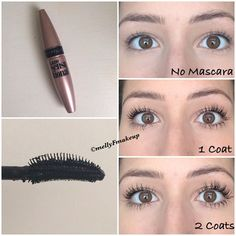 Maybelline Lash Sensational Mascara in Blackest Black. Follow my instagram @mellyfmakeup