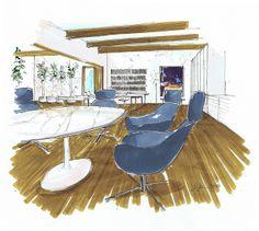 modern office by M Morelan Design, via Flickr