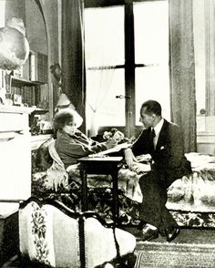 Colette and her husband   Maurice Goudeket in their   Palais-Royal apartment.