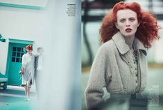 Karen Elson by Peter Lindbergh for Vogue US October 2011