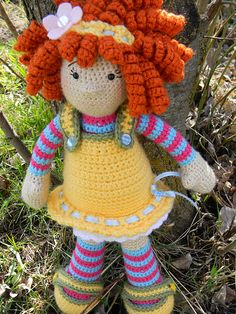 Ravelry: emosback's Molly's Dolly with link to pattern and helpful notes.  LOVE.  THIS.  DOLL.  OMG, I love it so much.  Time to start making some corkscrews...