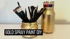 Gold spray paint DIY