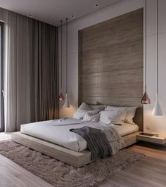 Minimal Bedroom, Modern Master Bedroom, Modern Bedroom Design, Master Bedroom Design, Trendy Bedroom, Luxury Interior Design, Contemporary Bedroom, Home Interior, Interior Design Inspiration