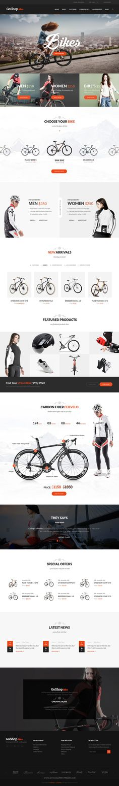 GoShop is an advanced WordPress Theme fully customizable and suitable for multipurpose #eCommerce #websites. #bike #cycle Download Now!