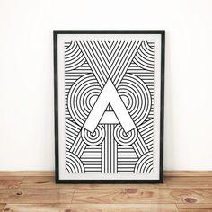 Art Deco Alphabet Prints   Christopher Berry