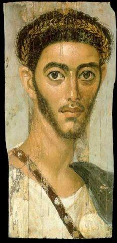 roman portrait painting | Roman Era Funerary Portrait Painting
