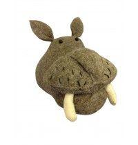 Dierenkop 'Hippo' #jongenskamer | Mooi kamertje