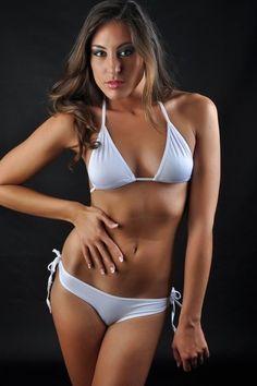 Bikini sexy color blanco.