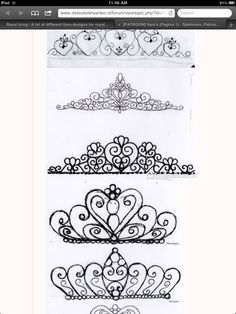Tiara piping pattern 3