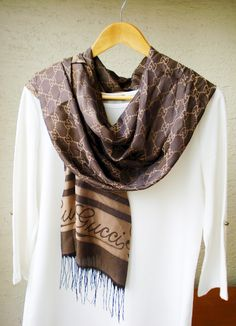 Milky Brown Pashmina Scarf, Silky jacquard scarf, Fall- Spring scarf, infinity scarf, Gypsy Wrap by fourseasonsscarf on Etsy