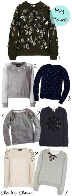 DIY Inspiration: Embellished Sweatshirt