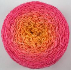 pink to orange color changing hand dyed by needleclicksEtc on Etsy