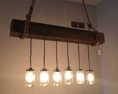 Rustic Industrial Modern hanging reclaimed wood par Rte5Reclamation